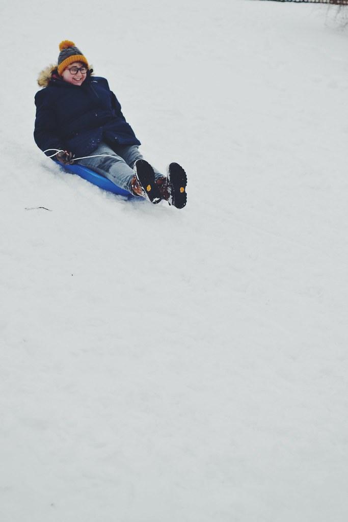 Sledding Mama Snow Day