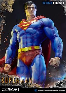 「頭雕配件修改更新!」Prime 1 Studio《蝙蝠俠:寂靜》超人(雕塑披風版)バットマン:ハッシュ  スーパーマン (マントキャスト版)MMDCBH-02S 1/3 比例全身雕像作品