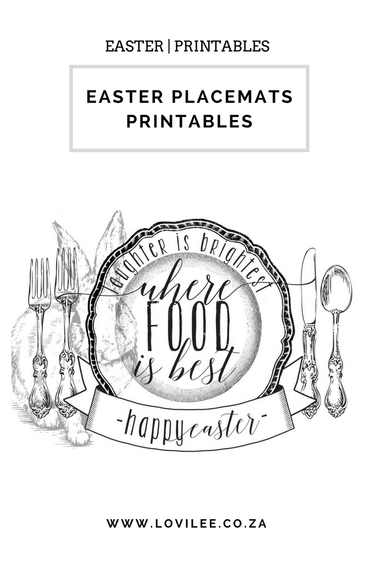 image regarding Printable Placemats named Down load these types of rather Easter printable placemats Lovilee Blog site