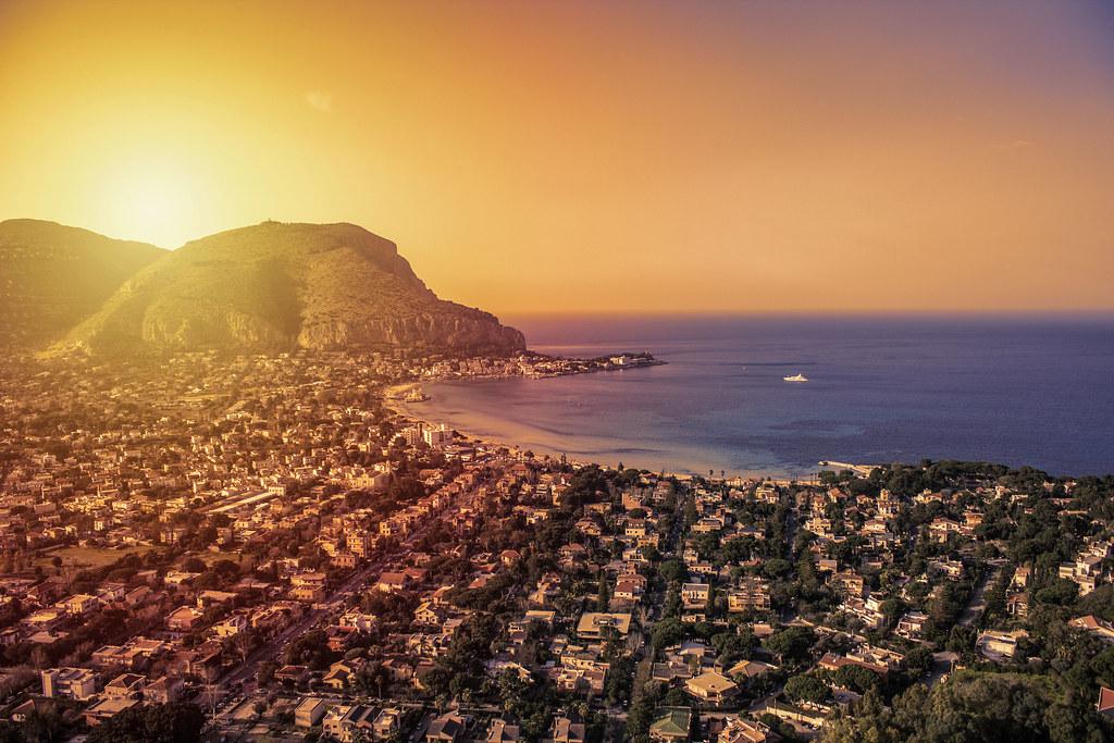 Mondello sunset