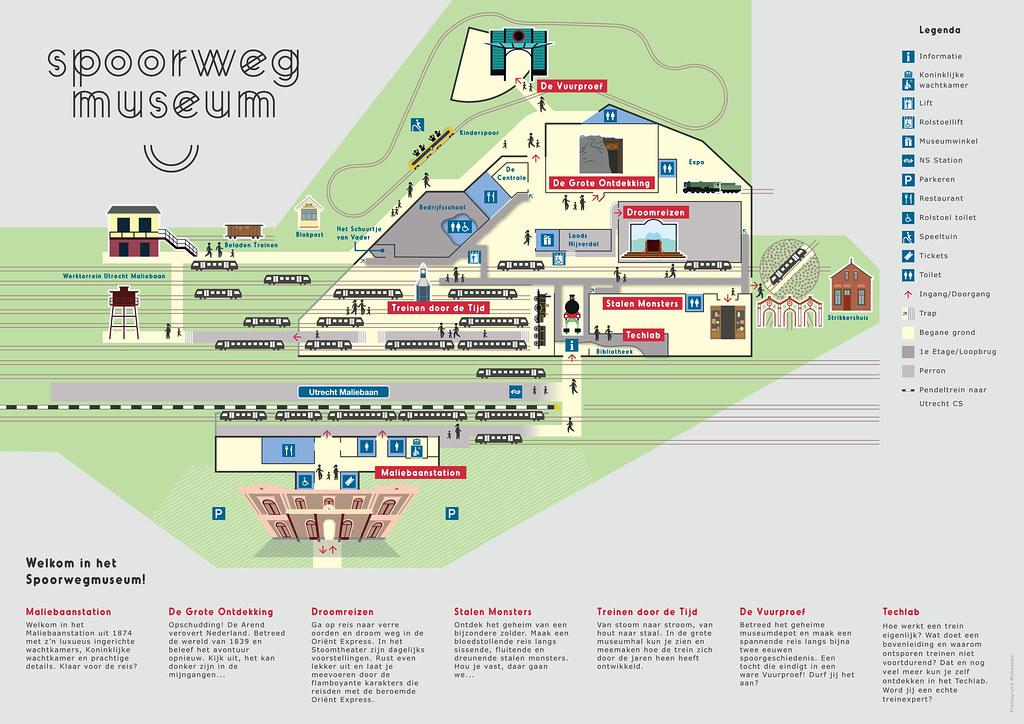 Utrecht Spoorwegmuseum plattegrond