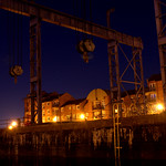 Preston Docks night