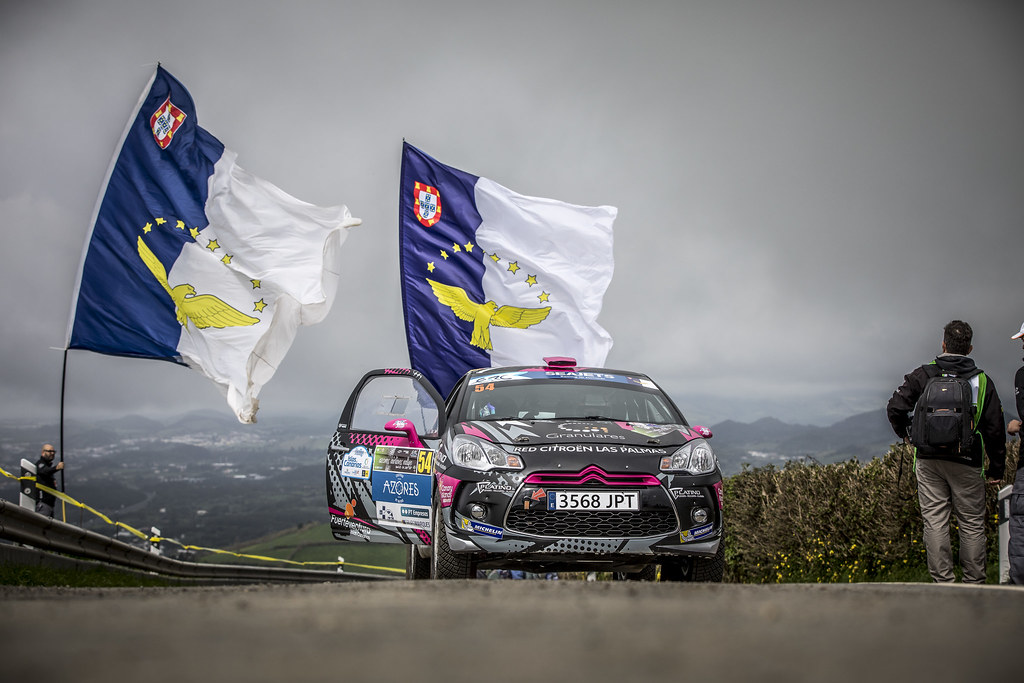 54 FALCON RODRIGUEZ Emma Maria, (esp) GONZALES DELGADO Eduardo (esp), Citroen DS3 R3T, action during the 2018 European Rally Championship ERC Azores rally,  from March 22 to 24, at Ponta Delgada Portugal - Photo Gregory Lenormand / DPPI