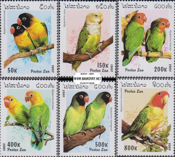 Známky Kambodža 1997 Papagáje, nerazítkovaná MNH séria