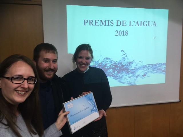 Premi de l'Aigua per a l'Observatori de la Tordera