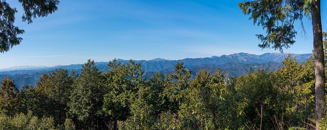パノラマ・奥多摩の山々@天覚山