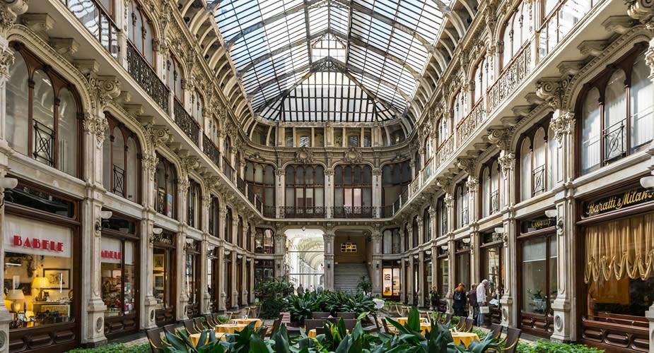 Architectuur in Turijn: Galeria Subalpina | Mooistestedentrips.nl