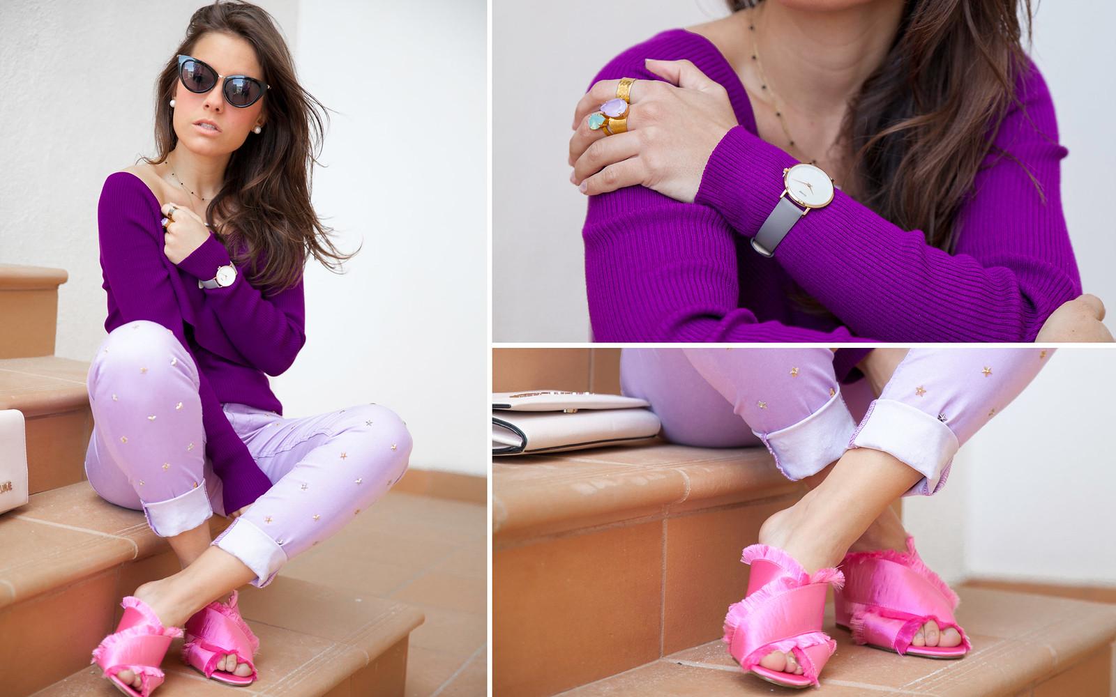 utra violet color del año 2018 Pantone outfit violeta theguestgirl Brand Ambassador Higlhy Preppy