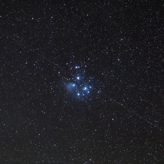 Pleiades Cluster and Satellite
