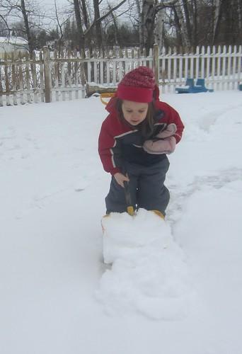 big shovel full of snow