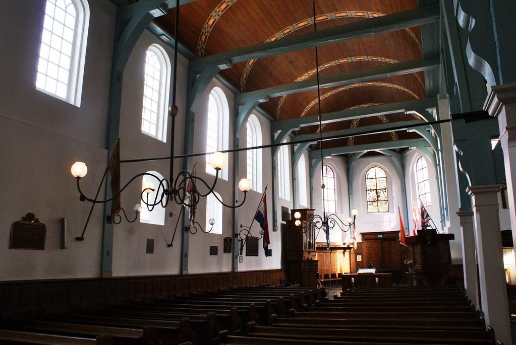 A l'intérieur de l'église anglicane dans le Béguinage d'Amsterdam.