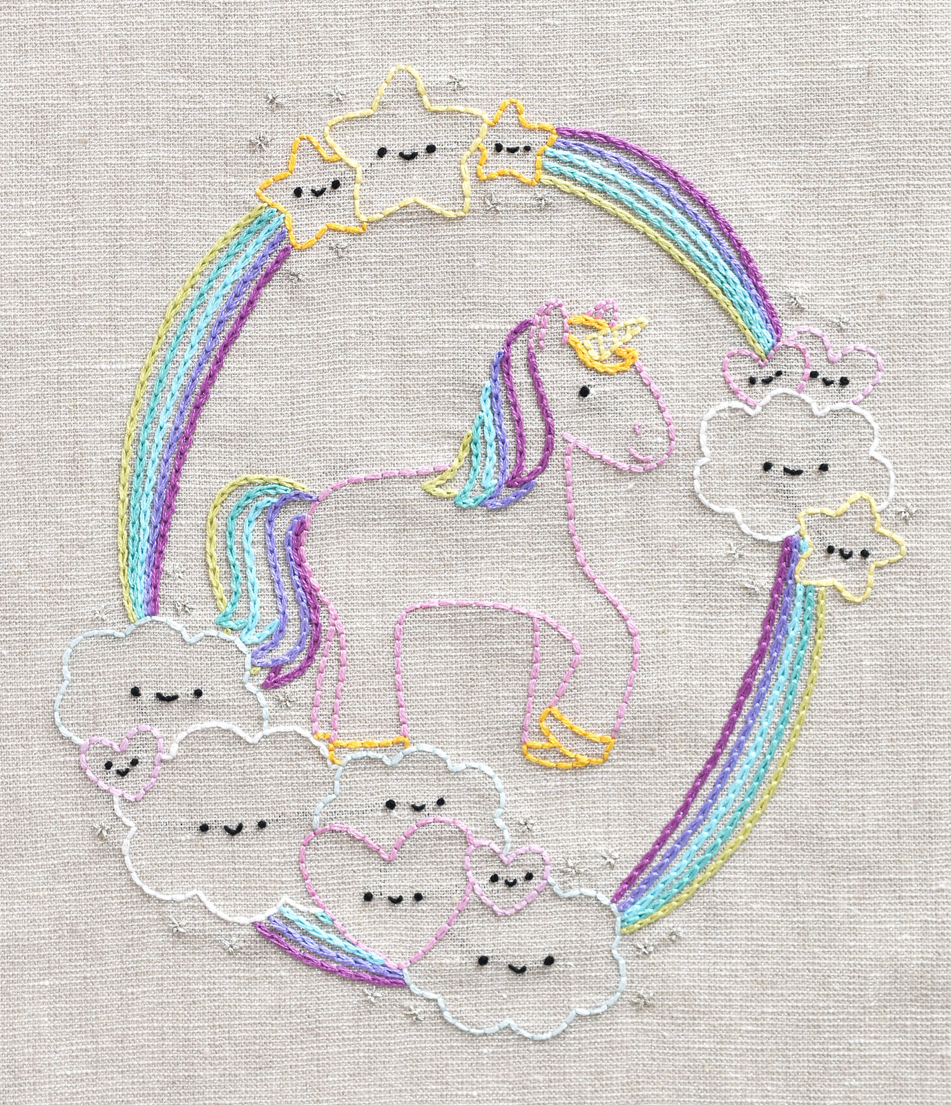 Kawaii Unicorn Dreams Pattern