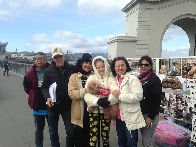 San Francisco, Fisherman's Wharf Leafleting Event – February 24, 2018