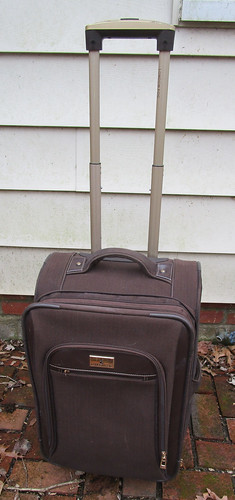 Small Brown London Fog Suitcase