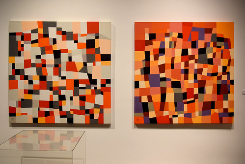 "Robert Black's ""Mystique #2"" and ""Mystique #4"" (2010 - Acrylic on canvas)"
