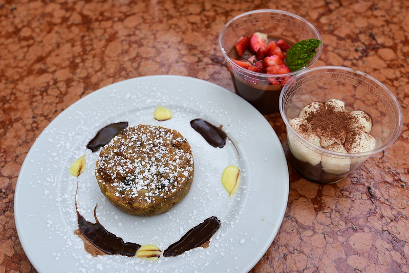 Maccheroni Republic- Los Angeles, CA: CHOCOLATE MOUSSE (gluten free/vegan), TIRAMISU, PANETTONE PUDDING