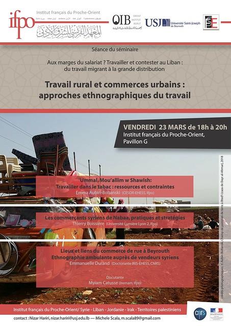 Travail rural et commerces urbains : approches ethnographiques du travail