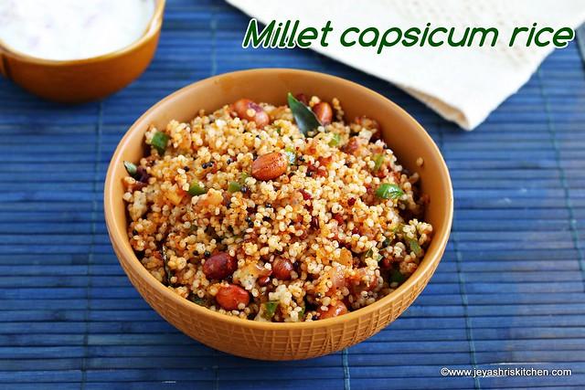 Millet capsicum rice