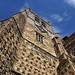 Flint flushwork - late-Gothic west tower, 1557 - Waltham Abbey Church, Essex, England