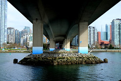 Cambie Street bridge. Vancouver, BC. March 2018.