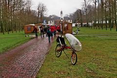 Ligfiets op de kerstmarkt bij de Faeylemaborg