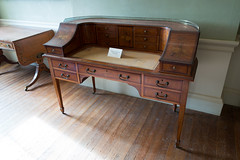 Antique desk with marquetry