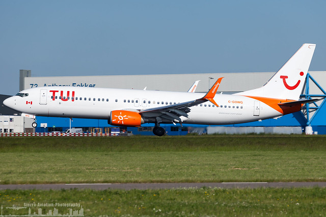 C-GOWG TUI Airlines Netherlands Boeing 737-86J(WL)  (AMS - EHAM - Amsterdam Schiphol)