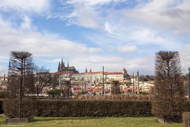 Il Castello di Praga visto dal Rudolfinum