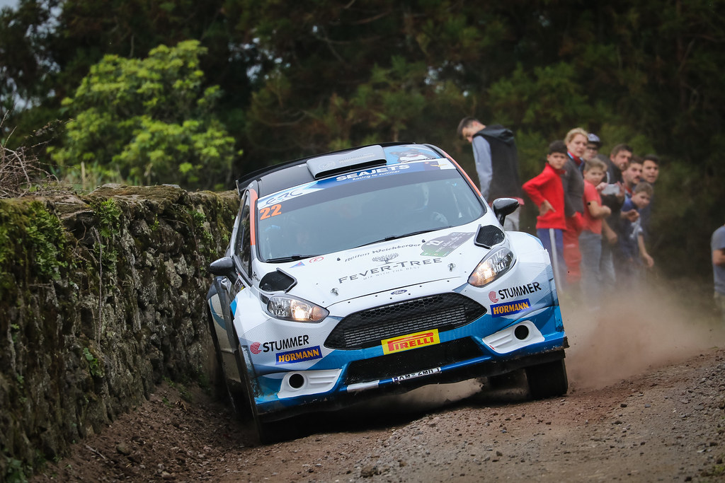 22 NEUBAUER Hermann( (aut),  ETTEL Bernhard (aut), FORD FIESTA R5, action during the 2018 European Rally Championship ERC Azores rally,  from March 22 to 24, at Ponta Delgada Portugal - Photo Jorge Cunha / DPPI