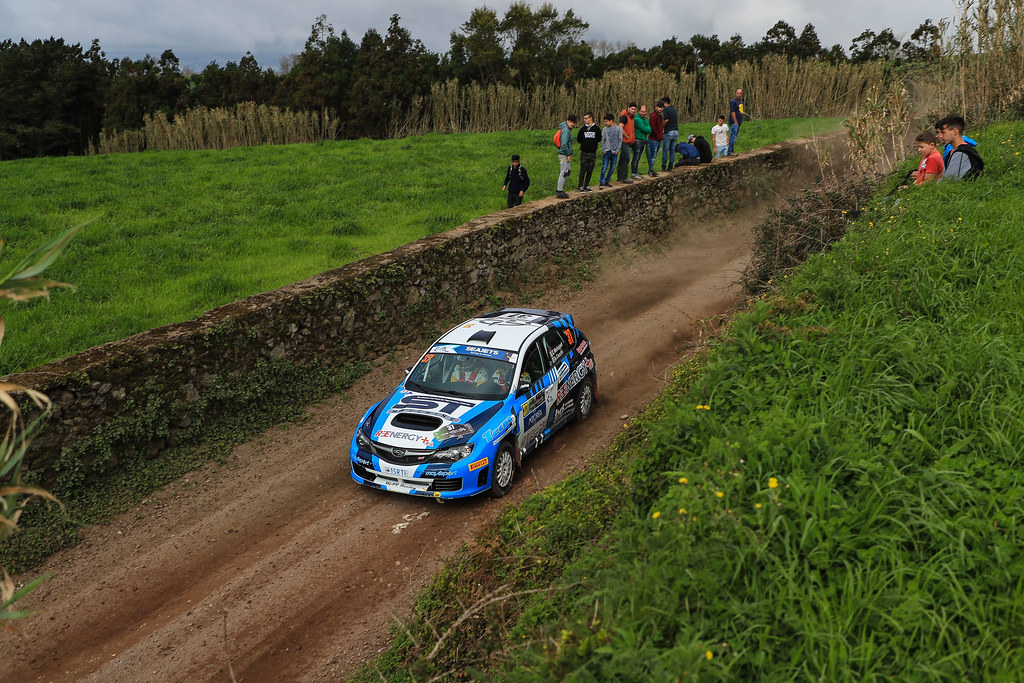 37 MELEGARI Zelindo (ita), CECCHI Andrea Marco (ita), SUBARU IMPREZA WRX during the 2018 European Rally Championship ERC Azores rally,  from March 22 to 24, at Ponta Delgada Portugal - Photo Jorge Cunha / DPPI
