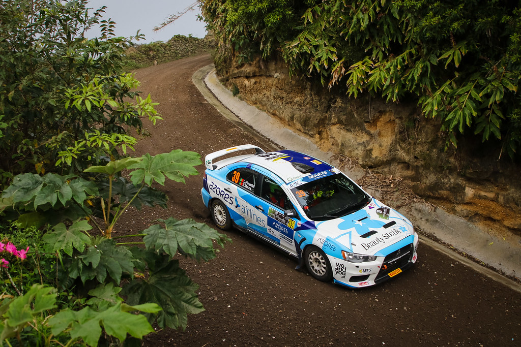 39 PIMENTEL Luis (prt), MOURA Nuno (prt), MITSUBISHI LANCER EVO X, action during the 2018 European Rally Championship ERC Azores rally,  from March 22 to 24, at Ponta Delgada Portugal - Photo Jorge Cunha / DPPI