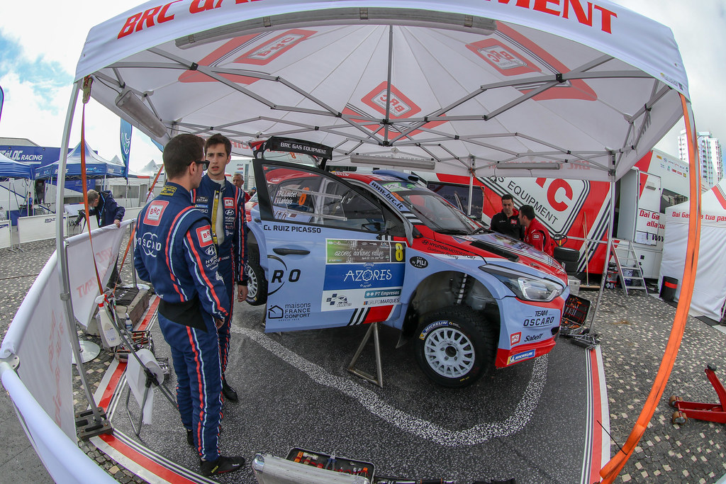 08 LOUBET Pierre louis (fra), LANDAIS Vincent (fra), BRC RACING TEAM, HYUNDAI I20 R5, portrait during the 2018 European Rally Championship ERC Azores rally,  from March 22 to 24, at Ponta Delgada Portugal - Photo Jorge Cunha / DPPI