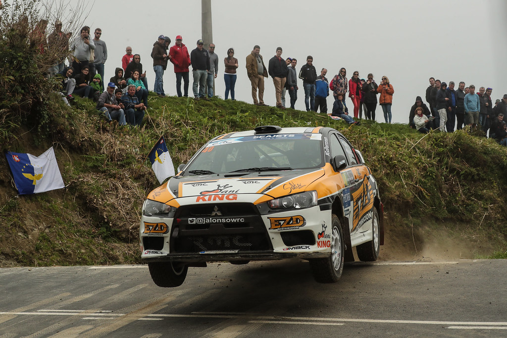 40 ALONSO Juan Carlo (arg), MONASTEROLO Juan Pablo (arg), MITSUBISHI LANCER EVO X, action during the 2018 European Rally Championship ERC Azores rally,  from March 22 to 24, at Ponta Delgada Portugal - Photo DPPI