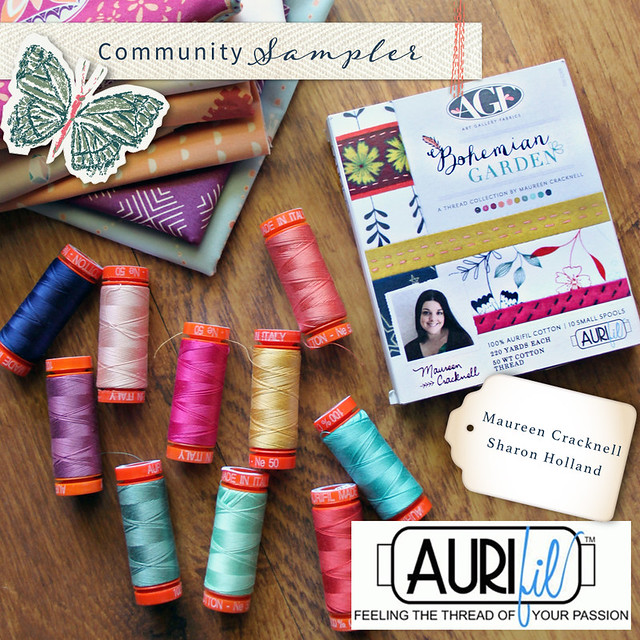 A Community Sampler Giveaway with Aurifil!