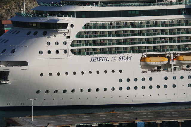 Jewel of the Seas (Royal Caribbean) at Philipsburg, St. Maarten from the Celebrity Equinox - Tuesday February 20, 2018