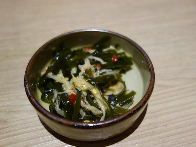 小菜是海帶金針菇@桃園恆八味屋日式豬排專賣店