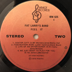 FAT LARRY'S BAND:FEEL IT(LABEL SIDE-B)