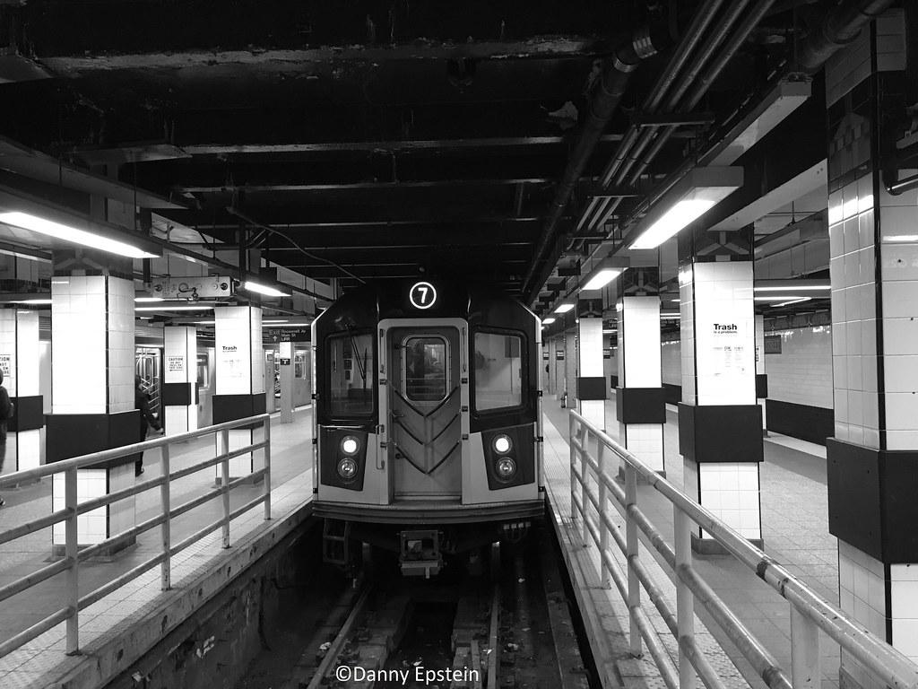 R-188 (7) train at Main Street