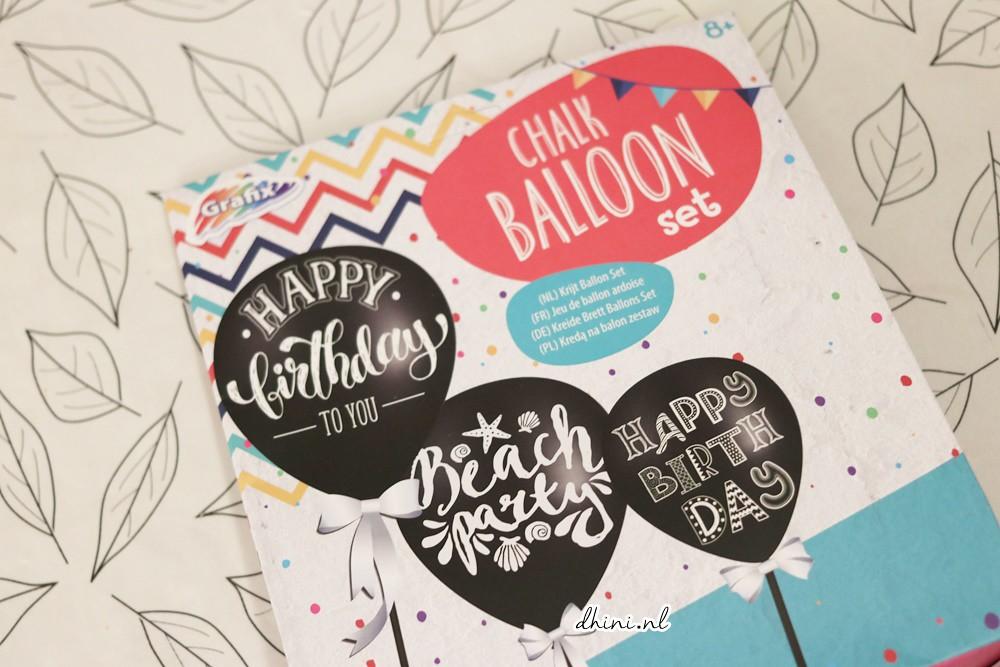 2018 DIY Chalk ballon