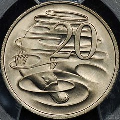 Australia Platypus 20 Cent Coin Reverse