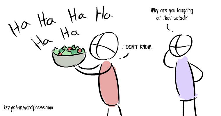 laughing at a salad meme