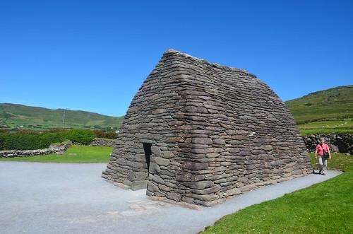 Das Felsenhaus vom Gebetshaus in Gallarus