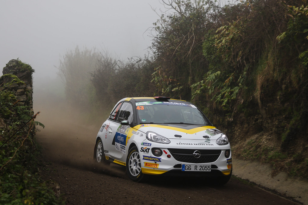 43 SESKS Martin (lva), RENARS Francis (lva),Adac Opel rallye junior team, OPEL ADAM R2, action during the 2018 European Rally Championship ERC Azores rally,  from March 22 to 24, at Ponta Delgada Portugal - Photo Jorge Cunha / DPPI
