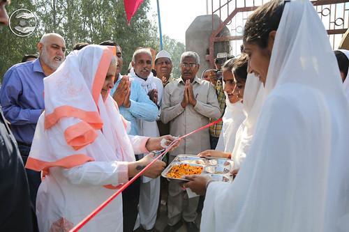 Welcome at Satsang Bhawan Salu Majra