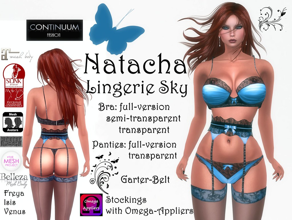 Continuum Natacha Lingerie Sky
