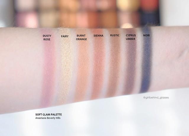Anastasia Beverly Hills Soft Glam Palette row2 swatches