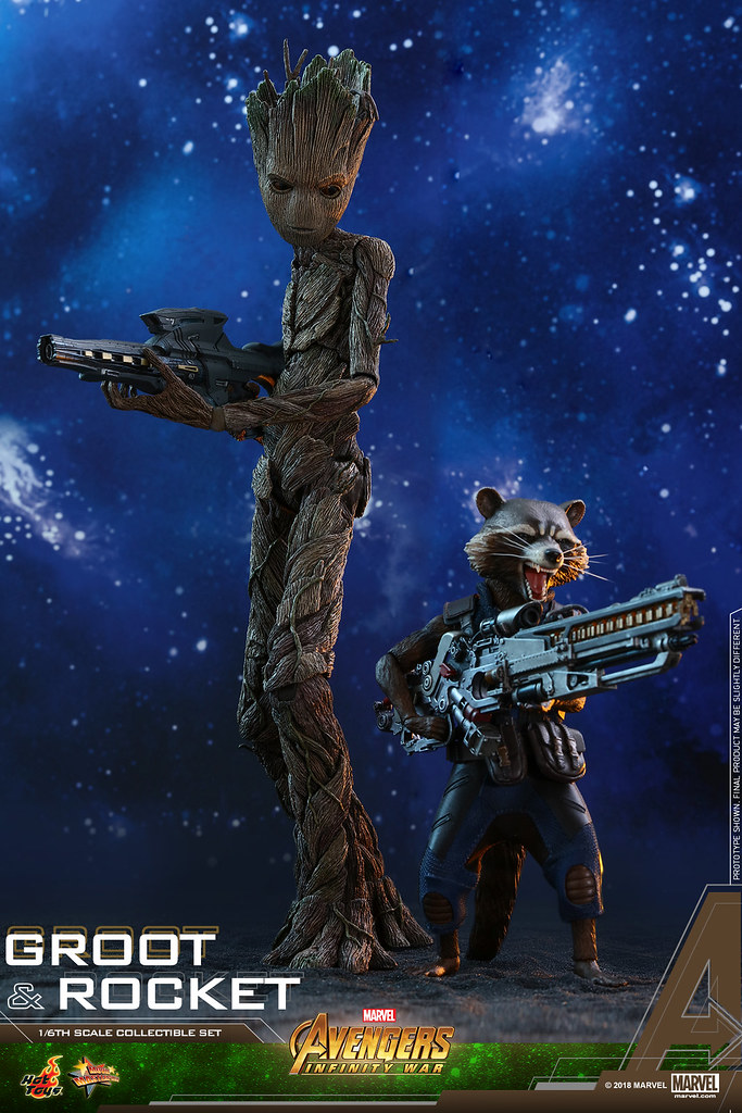 Hot Toys – MMS476 – 《復仇者聯盟:無限之戰》 1/6 比例 格魯特 & 火箭 套裝組 Avengers: Infinity War Groot & Rocket Collectible Set
