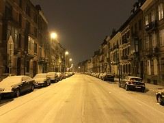 Rue verglacée