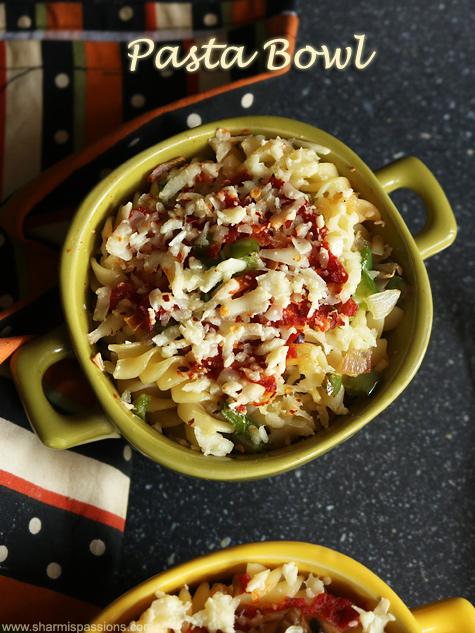 mushroom pasta bowl recipe