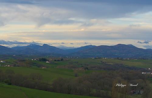 Pays Basque vue de Bardos